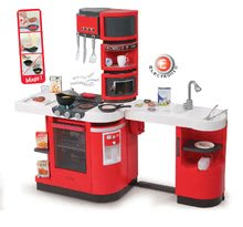 Elektronické kuchynky - Kuchynka CookMaster Smoby elektronická so zvukmi, s ľadom, opečenými potravinami a 36 doplnkami červená_10