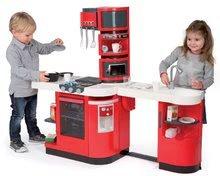 Elektronické kuchynky - Kuchynka CookMaster Smoby elektronická so zvukmi, s ľadom, opečenými potravinami a 36 doplnkami červená_11