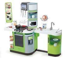 Bucătărie CookMaster Verte Smoby electronică, cu efecte sonorice, cu gheață, cu alimente prăjite și cu 36 de accesorii, verde