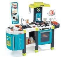 Kuchynka pre deti Tefal French Touch Smoby elektronická so zvukmi, s ľadom, kávovarom a 45 doplnkami tyrkysovo-zelená