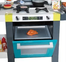 Elektronické kuchynky - Kuchynka Tefal French Touch Smoby elektronická so zvukmi, s ľadom, kávovarom a 45 doplnkami tyrkysovo-zelená_2