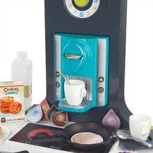 Elektronické kuchynky - Kuchynka Tefal French Touch Smoby elektronická so zvukmi, s ľadom, kávovarom a 45 doplnkami tyrkysovo-zelená_5