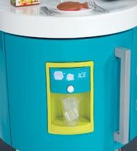 Elektronické kuchynky - Kuchynka Tefal French Touch Smoby elektronická so zvukmi, s ľadom, kávovarom a 45 doplnkami tyrkysovo-zelená_6