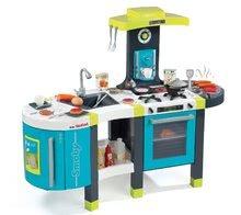 Elektronické kuchynky - Kuchynka Tefal French Touch Smoby elektronická so zvukmi, s ľadom, kávovarom a 45 doplnkami tyrkysovo-zelená_11