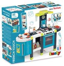 Elektronické kuchynky - Kuchynka Tefal French Touch Smoby elektronická so zvukmi, s ľadom, kávovarom a 45 doplnkami tyrkysovo-zelená_12