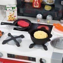 Elektronické kuchynky - Kuchynka Tefal French Touch Bublinky&Voda Smoby elektronická s magickým bublaním, tečúcou vodou a 45 doplnkami červeno-šedá_0