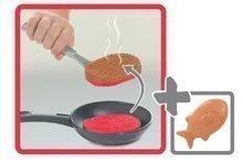 Elektronické kuchynky - Kuchynka Tefal French Touch Bublinky&Voda Smoby elektronická s magickým bublaním, tečúcou vodou a 45 doplnkami červeno-šedá_6