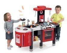 Elektronické kuchynky - Kuchynka Tefal French Touch Bublinky&Voda Smoby elektronická s magickým bublaním, tečúcou vodou a 45 doplnkami červeno-šedá_10