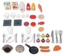 Elektronické kuchynky - Kuchynka Tefal French Touch Bublinky&Voda Smoby elektronická s magickým bublaním, tečúcou vodou a 45 doplnkami červeno-šedá_11
