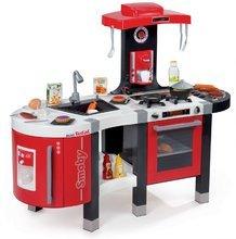 Dětská kuchyňka Smoby Tefal French Touch elektronická s grilem, opečenými potravinami a magickou těstovinou s 46 doplňky červená