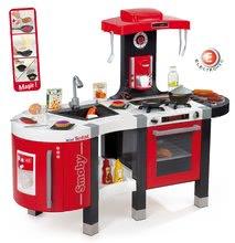 Elektronikus játékkonyha Tefal French Touch  Smoby grillel, sült ételekkel, mágikus tésztával és 46 kiegészítővel piros