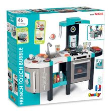 Kuchynky pre deti sety - Set kuchynka Tefal French Touch Smoby s ľadom a kávovarom a stôl Piknik s dvoma stoličkami KidChair Blue_34