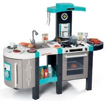 Kuchynky pre deti sety - Set kuchynka Tefal French Touch Smoby s ľadom a kávovarom a stôl Piknik s dvoma stoličkami KidChair Blue_12