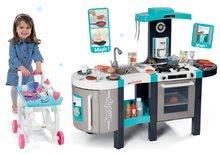 Set kuchynka elektronická Tefal French Touch Bubble Smoby s magickým bublaním+servírovací vozík s kozmetickou taštičkou 31120
