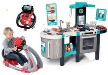 Set bucătărie electronică Tefal French Touch Bubble Smoby cu barbotare magică+simulator V8 Driver cu funcţii