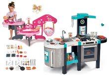 Set kuchynka elektronická Tefal French Touch Bubble Smoby s magickým bublaním a opatrovateľské centrum pre bábiku Baby Nurse