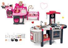 Szett elektronikus játékkonyha Tefal French Touch Bubble Smoby bugyogással és babacenter Baby Nurse Doll's Play Center SM311207-1