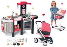 Set bucătărie Tefal French Touch Bubble Smoby electronică cu barbotare şi cărucior adânc-sport cu leagăn Maxi Cosi & Quinny