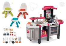 SMOBY 311300-18 crvena kuhinja Tefal Superchef sa zvukom,ledom i roštiljom i dječji stol sa skladišnim prostorom