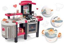 Set bucătărie Tefal SuperChef Smoby cu grill şi cu aparat de cafea și Tefal oală sub presiune