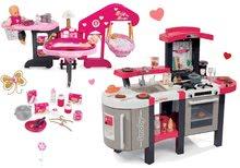 Set bucătărie Tefal SuperChef Smoby cu grill şi centru de bebe pentru păpuşă de jucărie Baby Nurse din Ediţia aurie