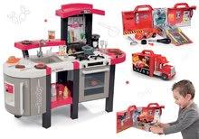 SMOBY 311300-9 červená kuchynka Tefal Superchef so zvukmi, ľadom grilom a elektronický kamión a autíčko Cars Ice