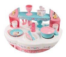 Kuhinje za djecu setovi - Set kuhinja Princeze Smoby obostrana s tornjevima i 19 dodataka i kozmetički stolić sa stolcem i kozmetička torbica_0