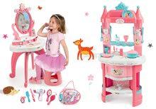 Kuhinje za djecu setovi - Set kuhinja Princeze Smoby obostrana s tornjevima i 19 dodataka i kozmetički stolić sa stolcem i kozmetička torbica_16