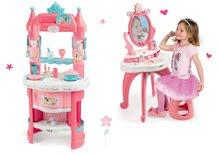 Kuhinje za djecu setovi - Set kuhinja Princeze Smoby obostrana s tornjevima i 19 dodataka te kozmetički stolić sa stolcem_13