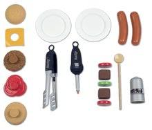 Obyčejné kuchyňky - Grill Barbecue Smoby s mechanickými funkcemi a zvukem a 18 doplňky 73 cm výška_3