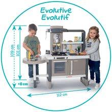 Kozmetické stolíky sety - Set kozmetický stolík so stoličkou 2v1 Frozen a kuchynka rastúca Tefal Evolutive s tečúcou vodou a magickým bublaním_14