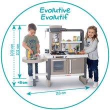 Kuchynky pre deti sety - Set kuchynka rastúca s tečúcou vodou Tefal Evolutive Smoby a mikrovlnka Tefal s hriankovačom a stoličkou KidChair_10