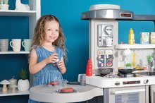 Kuchynky pre deti sety - Set kuchynka rastúca s tečúcou vodou Tefal Evolutive Smoby a mikrovlnka Tefal s hriankovačom a stoličkou KidChair_50