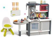 Kuchynky pre deti sety - Set kuchynka rastúca s tečúcou vodou Tefal Evolutive Smoby a mikrovlnka Tefal s hriankovačom a stoličkou KidChair_0