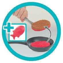 Elektronické kuchynky - Kuchynka rastúca s tečúcou vodou Tefal Evolutive Gourment Smoby s červenou mikrovlnkou so zvukom a svetlom_13