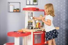 Elektronické kuchynky - Kuchynka rastúca s tečúcou vodou Tefal Evolutive Gourment Smoby s červenou mikrovlnkou so zvukom a svetlom_17