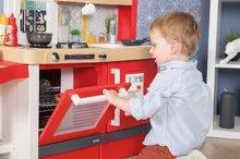 Elektronické kuchynky - Kuchynka rastúca s tečúcou vodou Tefal Evolutive Gourment Smoby s červenou mikrovlnkou so zvukom a svetlom_19