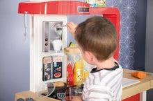 Elektronické kuchynky - Kuchynka rastúca s tečúcou vodou Tefal Evolutive Gourment Smoby s červenou mikrovlnkou so zvukom a svetlom_22
