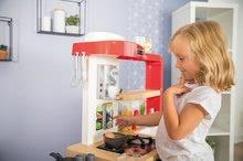 Elektronické kuchynky - Kuchynka rastúca s tečúcou vodou Tefal Evolutive Gourment Smoby s červenou mikrovlnkou so zvukom a svetlom_24