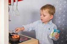 Elektronické kuchynky - Kuchynka rastúca s tečúcou vodou Tefal Evolutive Gourment Smoby s červenou mikrovlnkou so zvukom a svetlom_29