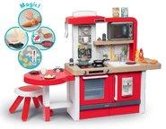 Kuchynky pre deti sety - Set kuchynka rastúca s tečúcou vodou a mikrovlnkou Tefal Evolutive Smoby a zeleninový Bio stánok s vozíkom Organic 100% Chef ako darček_0