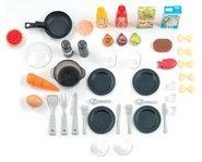 Kuchynky pre deti sety - Set kuchynka rastúca s tečúcou vodou a mikrovlnkou Tefal Evolutive Smoby a zeleninový Bio stánok s vozíkom Organic 100% Chef ako darček_8