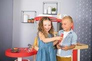 Kuchynky pre deti sety - Set kuchynka rastúca s tečúcou vodou a mikrovlnkou Tefal Evolutive Smoby a zeleninový Bio stánok s vozíkom Organic 100% Chef ako darček_16