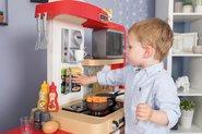 Kuchynky pre deti sety - Set kuchynka rastúca s tečúcou vodou a mikrovlnkou Tefal Evolutive Smoby a zeleninový Bio stánok s vozíkom Organic 100% Chef ako darček_20