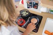 Kuchynky pre deti sety - Set kuchynka rastúca s tečúcou vodou a mikrovlnkou Tefal Evolutive Smoby a zeleninový Bio stánok s vozíkom Organic 100% Chef ako darček_22