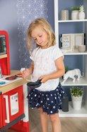 Kuchynky pre deti sety - Set kuchynka rastúca s tečúcou vodou a mikrovlnkou Tefal Evolutive Smoby a zeleninový Bio stánok s vozíkom Organic 100% Chef ako darček_23