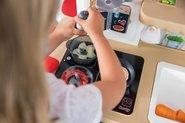 Kuchynky pre deti sety - Set kuchynka rastúca s tečúcou vodou a mikrovlnkou Tefal Evolutive Smoby a zeleninový Bio stánok s vozíkom Organic 100% Chef ako darček_25