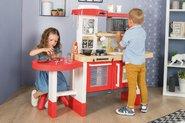 Kuchynky pre deti sety - Set kuchynka rastúca s tečúcou vodou a mikrovlnkou Tefal Evolutive Smoby a zeleninový Bio stánok s vozíkom Organic 100% Chef ako darček_34