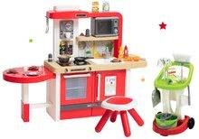 Kuchynky pre deti sety - Set kuchynka rastúca s tečúcou vodou a mikrovlnkou Tefal Evolutive Smoby a upratovací vozík s vedrom_43