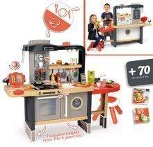 Elektronické kuchynky - Reštaurácia s elektronickou kuchynkou Chef Corner Restaurant Smoby s plotom a mikrovlnkou_3